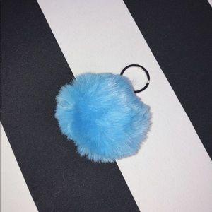🐬 Pom Pom Keychain in Blue